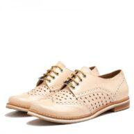 Zapatos bajos de cuero nude RALLYS
