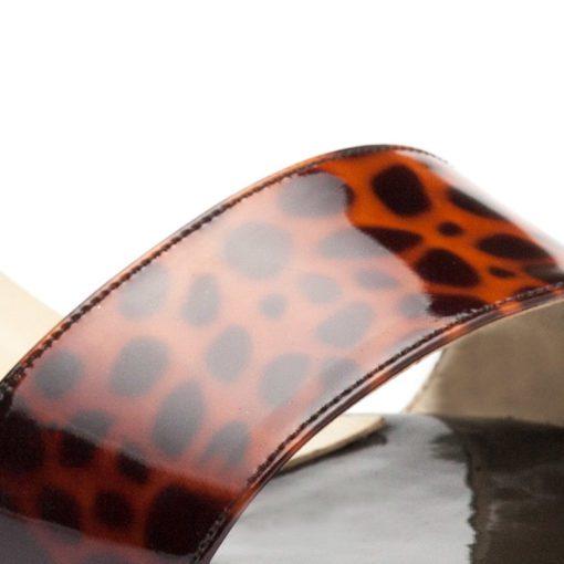 Sandalias negras y animal print RALLYS