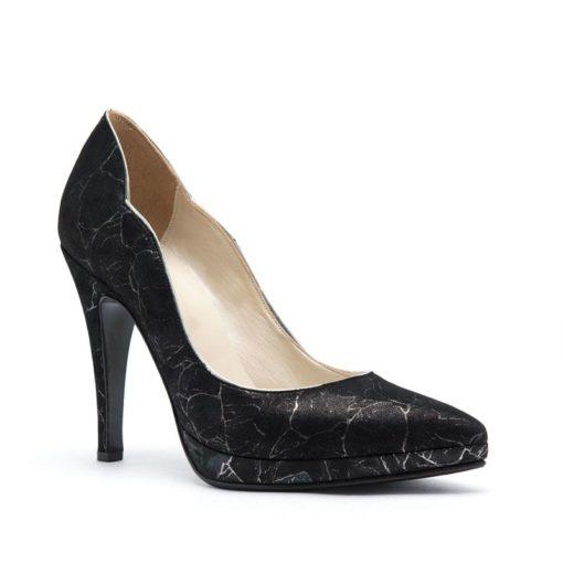 Stilettos con plataforma negros RALLYS