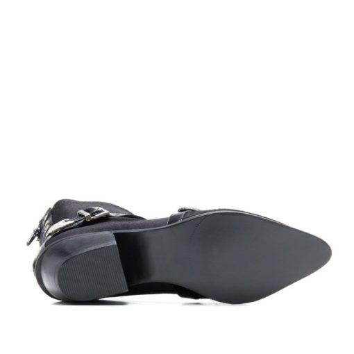 Botas cortas en negro con punta de pelo RALLYS