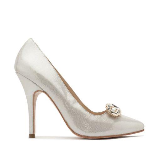 Zapatos plateados fiesta mujer RALLYS