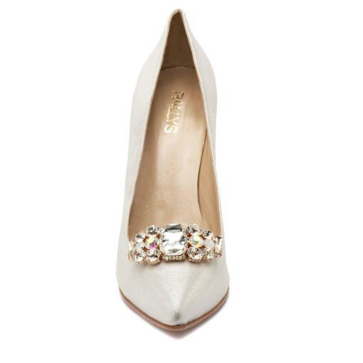 Zapatos taco fino plata fiesta RALLYS