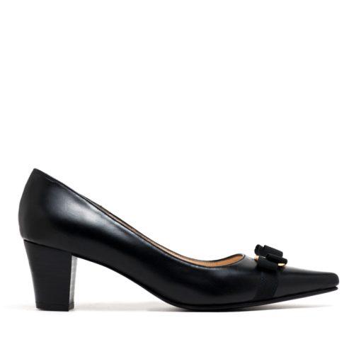 Stilettos en cuero negro mujer RALLYS