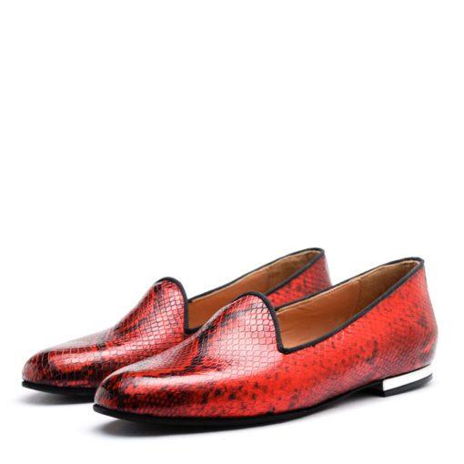 Ballerinas rojas punta redonda RALLYS