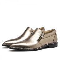 Zapatos en cuero peltre RALLYS