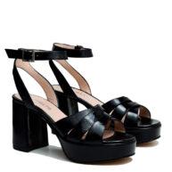 Sandalias negras cuero RALLYS