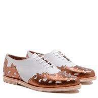 Zapatos blancos cobre mujer RALLYS