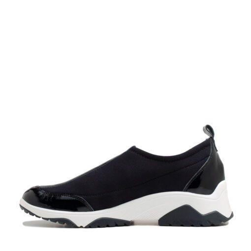 Zapatillas de tela elastizada color negro
