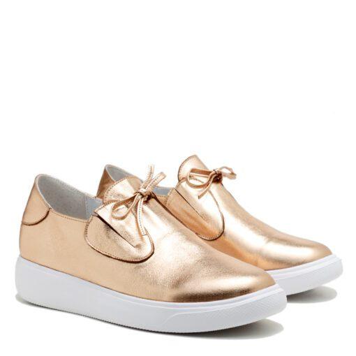 Zapatillas sin cordones color dorado para Mujer