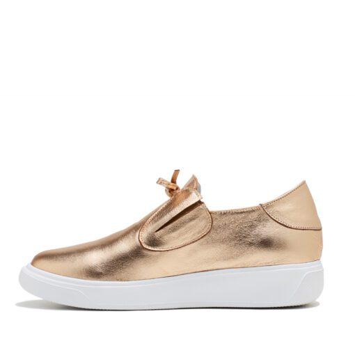 Zapatillas sin cordones color oro