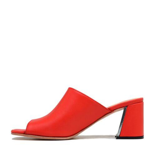 Zuecos color rojo mujer RALLYS
