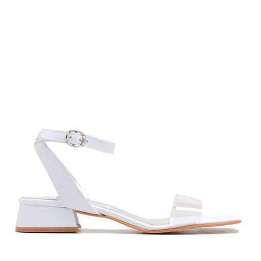 Sandalias blancas mujer taco bajo RALLYS