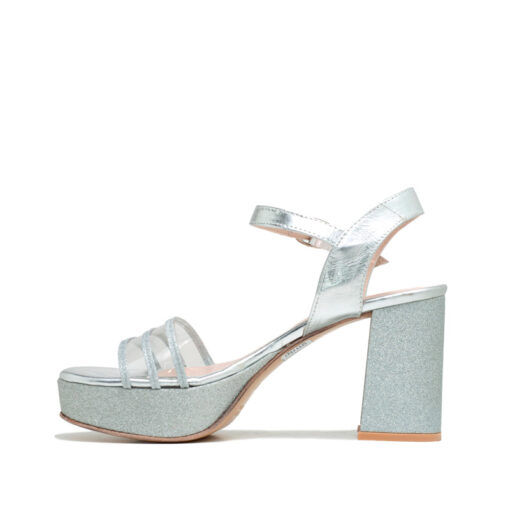 Sandalias plataforma glitter plata RALLYS