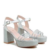Sandalias plateadas con pulsera RALLYS