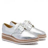 Zapatos plateados de cuero mujer RALLYS