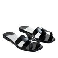 Sandalias bajas charol negro RALLYS