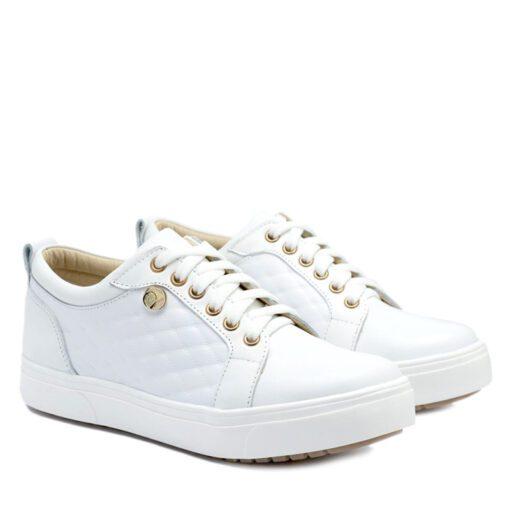 Zapatillas en cuero blanco para Mujer RALLYS