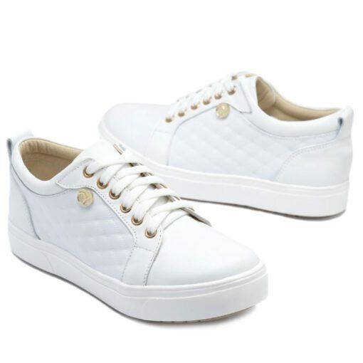 Zapatillas en cuero blanco RALLYS