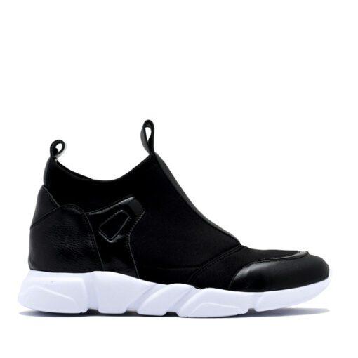 Zapatillas negras elastizadas sport RALLYS