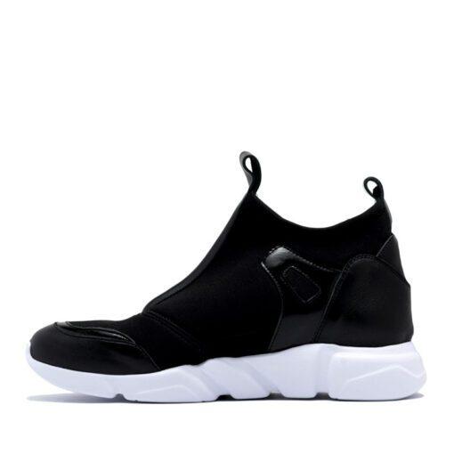 Zapatillas en negro para Mujer de cuero tela RALLYS
