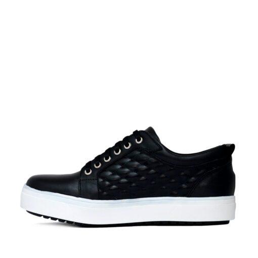 Zapatillas negras de cuero matelasse RALLYS