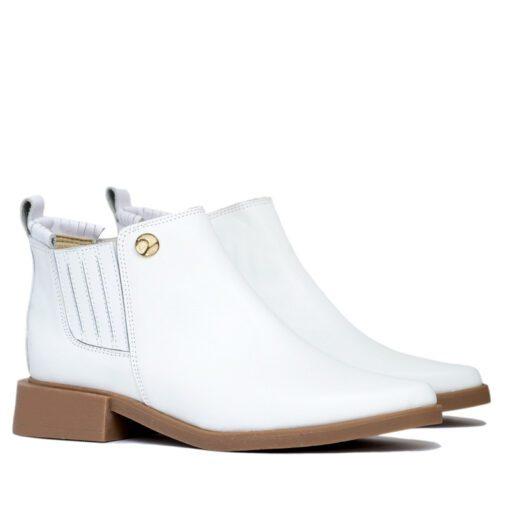 Botas blancas taco bajo RALLYS