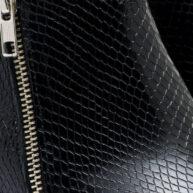 Botas de cuero grabado color negro RALLYS