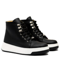 Zapatillas altas en cuero negro RALLYS
