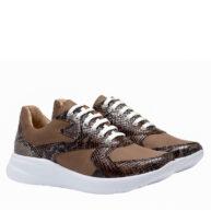 Zapatillas en cuero color brandy RALLYS