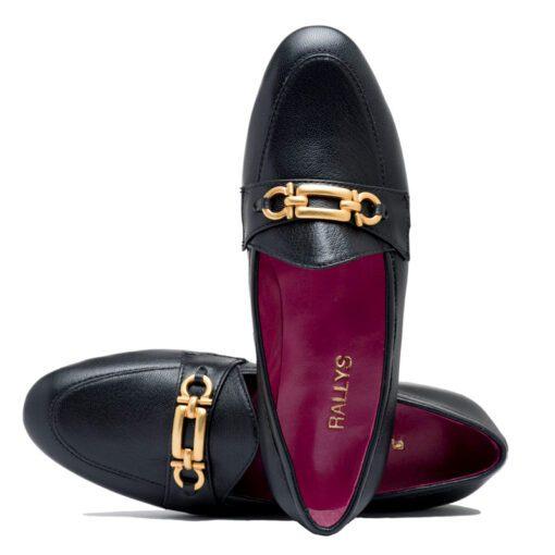 Zapatos negros bajos mujer RALLYS