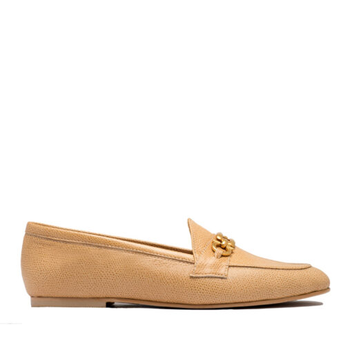 Zapato tipo mocasín color beige RALLYS