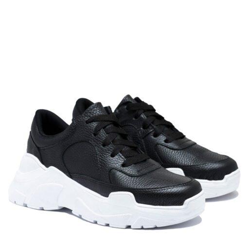 Zapatillas negras con goma blanca RALLYS