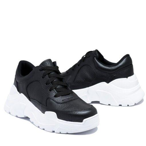 Zapatillas negras cuero RALLYS