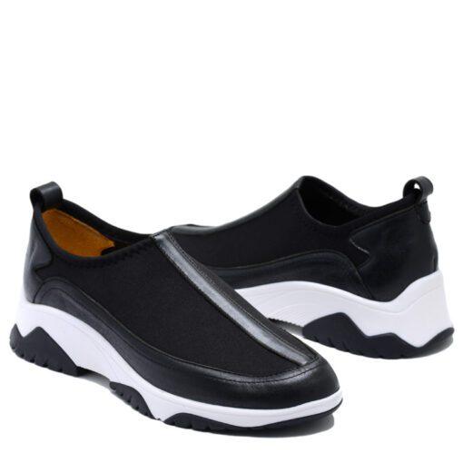 Zapatillas elastizadas con cuero RALLYS