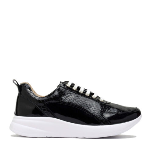 Zapatillas cómodas en charol negro RALLYS