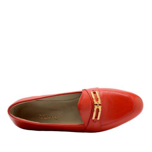 Zapato bajo con hebilla cuero rojo RALLYS
