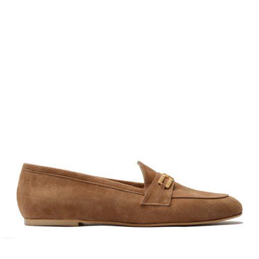 Zapato bajo gamuza con hebilla RALLYS