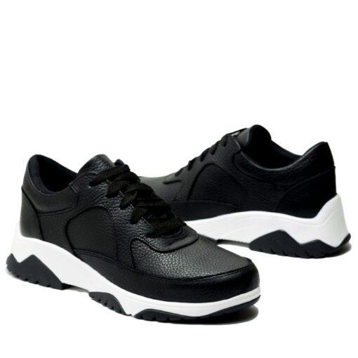 Zapatillas en cuero negro RALLYS