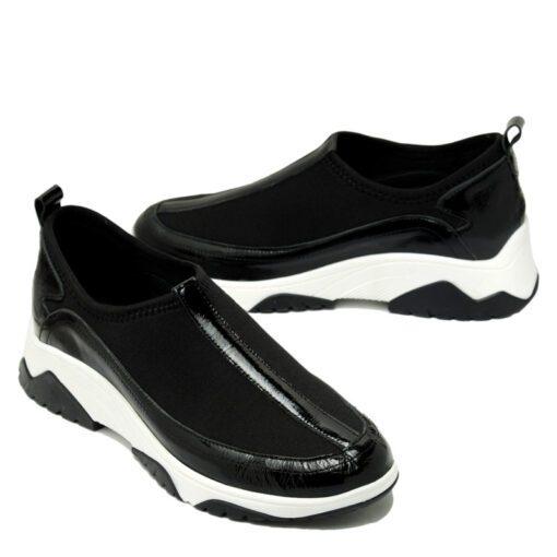 Zapatillas negras charol elastizadas RALLYS