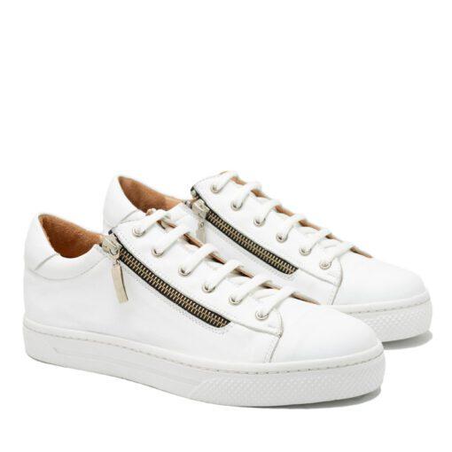 Zapatillas blancas con cierres RALLYS