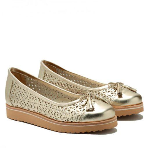 Zapatos platino calados con plataforma RALLYS