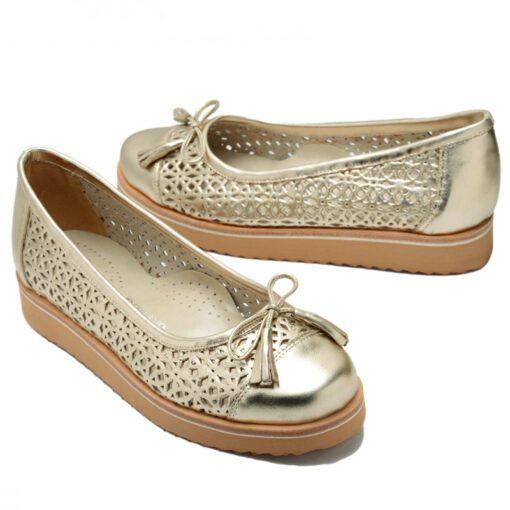 Zapatos platino calados RALLYS