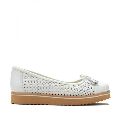 Zapatos cuero calado blanco RALLYS
