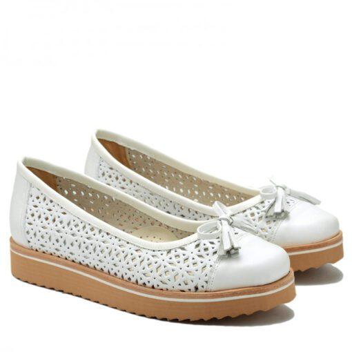 Zapatos blancos con plataforma RALLYS