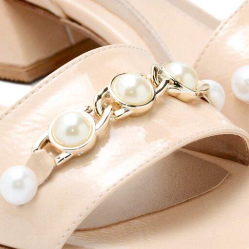 Sandalis rosas con aplique RALLYS