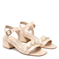 Sandalias color nude con perlas RALLYS